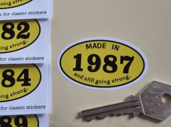 Made In 1980's And Still Going Strong Sticker. 60mm. 1980 - 1989.