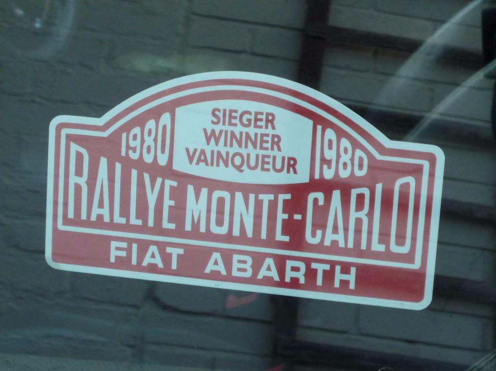 Fiat Abarth 1980 Monte Carlo Rally Winner Lick'n'Stick Window Sticker. 5