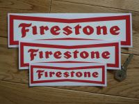 Firestone Dicky Bow Red on White Stickers. 4