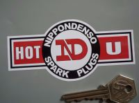 "Nippondenso Spark Plugs Hot U Shaped Stickers. 4.5"" Pair."