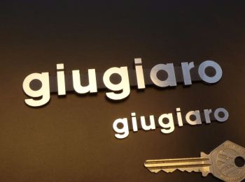 "Giugiaro Laser Cut Self Adhesive Car Badge. 2.75"" or 5""."