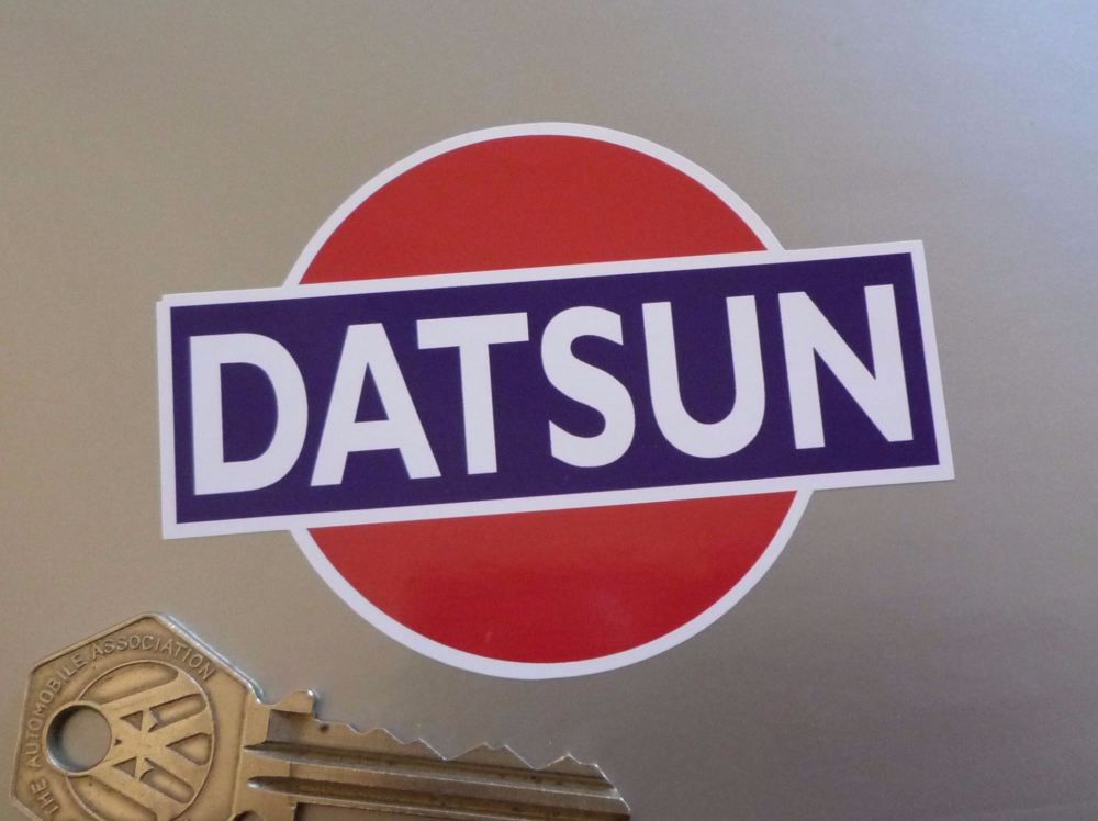 Datsun Earlier Style Rising Sun Colour Stickers. 85mm Pair.