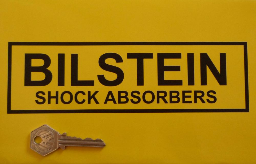 """Bilstein Shock Absorbers With Outline Cut Vinyl Stickers. 8"""" Pair."""