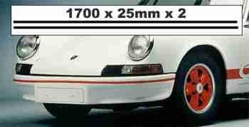 """Car Bumper Stripe Stickers. 67"""" Pair."""