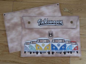 Volkswagen VW Wolfsburg Campervan Large Document Holder/Toolbag.