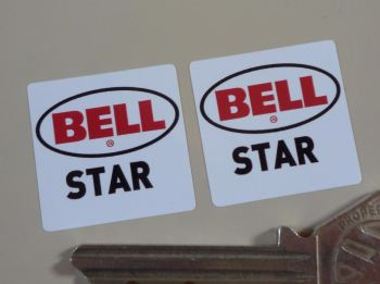 "Bell Star Helmet Stickers. 1"" Pair."