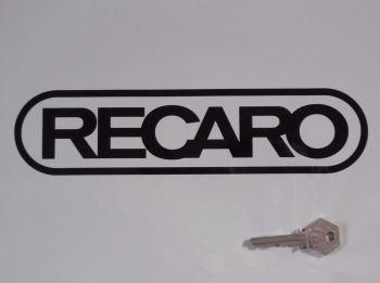 """Recaro Seats Ovoid Style Cut Vinyl Sticker. 10""""."""