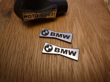 BMW Champion Spark Plug HT Cap Cover Badges. 29mm Pair.
