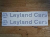 """Leyland Cars Cut Text Stickers. 23"""" Pair."""