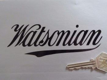 "Watsonian Sidecar Cut Text Stickers. 5"" Pair."