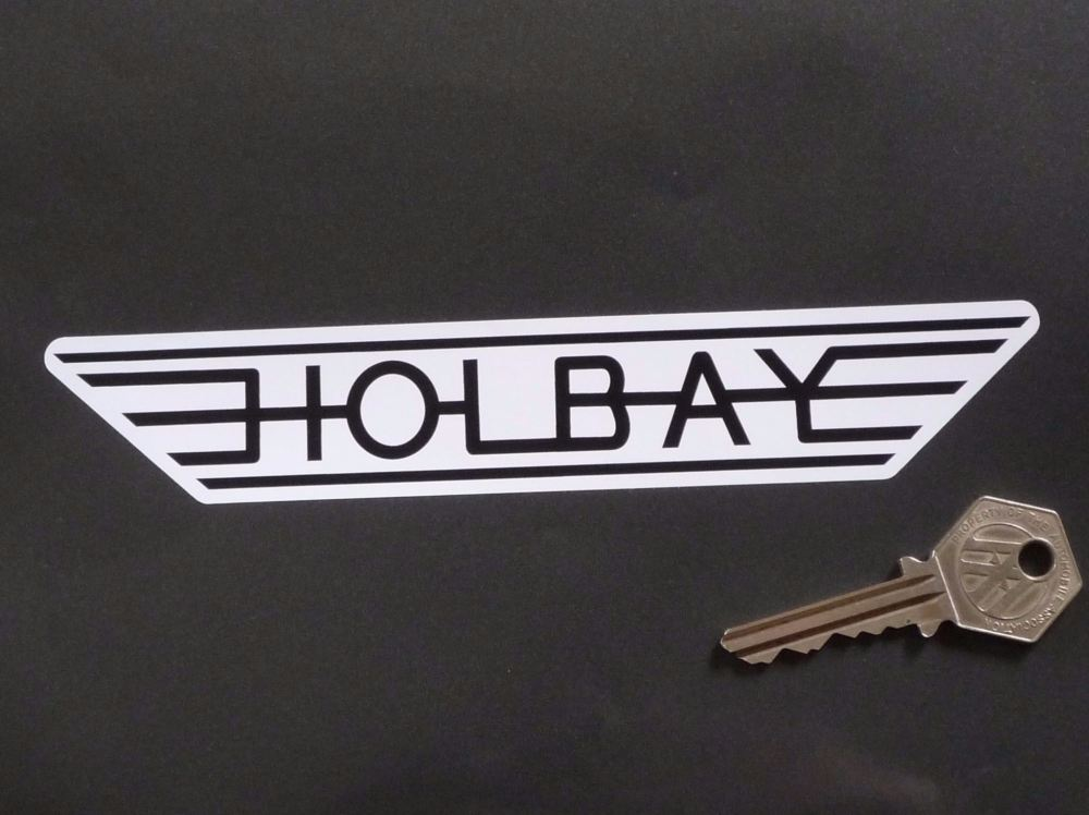 """Holbay Winged Black & White Stickers. 7"""" Pair."""