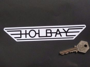 "Holbay Winged Black & White Stickers. 7"" Pair."