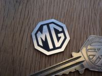 "MG Octagon Logo Style Laser Cut Self Adhesive Car Badge. 1""."