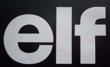 "Elf Cut Text Sticker. 12""."