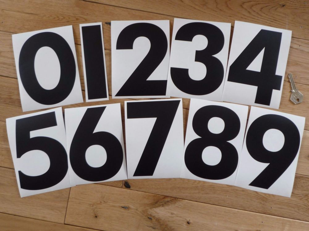 Racing Numbers Stickers. Chapman Font. Various Sizes.