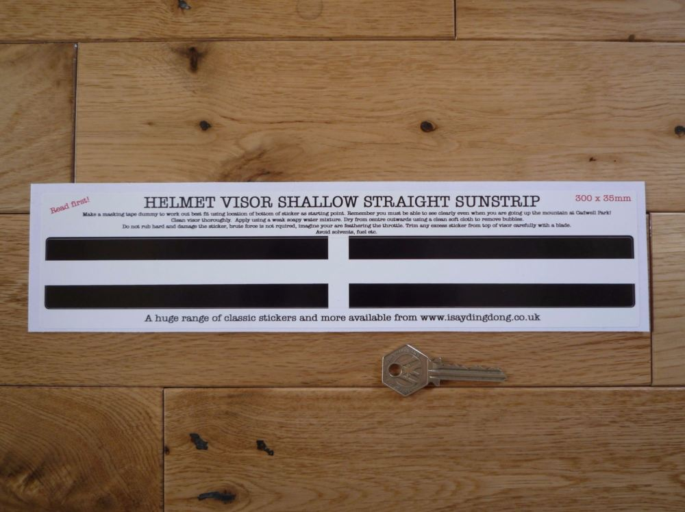 "Cornish Flag Style Helmet Visor Straight Sunstrip Sticker. 12""."