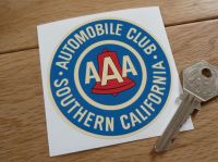 "AAA Automobile Club Southern California Cream Sticker. 3""."