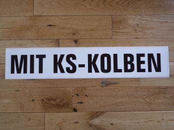 """Mit KS - Kolben KS Pistons Sticker. 23.5""""."""