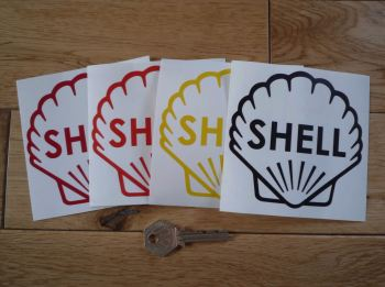 """Shell Classic Style Cut Vinyl Outline Sticker. 4"""" or 6""""."""