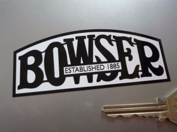 "Bowser Petrol Pump Sticker. 4"" or 8""."