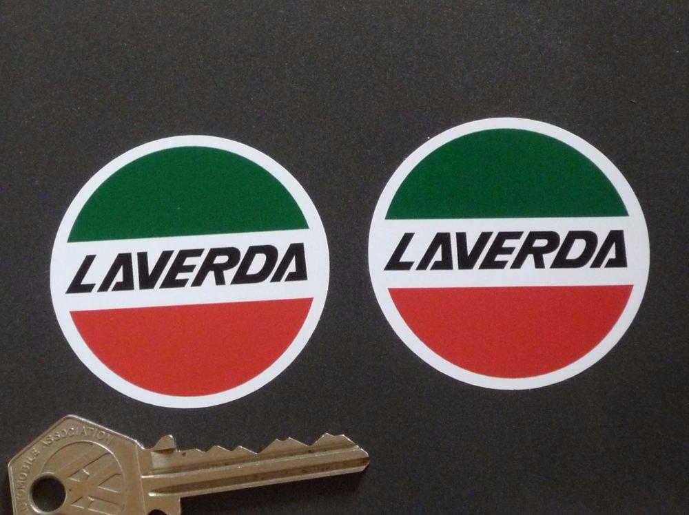 Laverda Circular Logo Stickers. 2