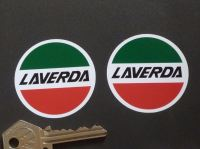 "Laverda Circular Logo Stickers. 1.25"", 2"", 3"", or 4"" Pair."