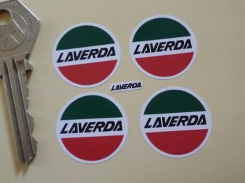 Laverda Circular Logo Stickers. Set of 4. 25mm.