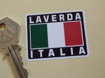 """Laverda Italia Tricolore Style Stickers. 2"""" Pair."""