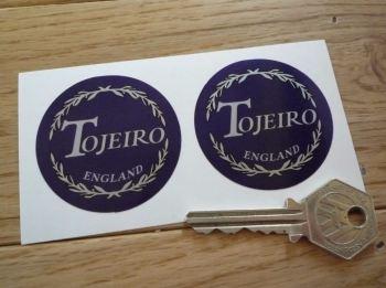 """Tojeiro England Circular Stickers. 2"""" Pair."""