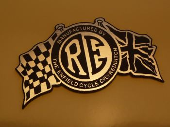 Royal Enfield Flag & Disc Style Laser Cut Magnet. 3""