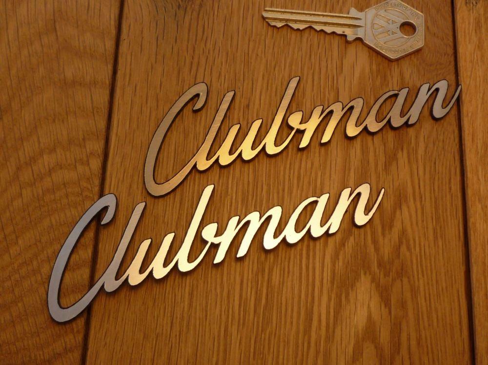 "Clubman Laser Cut Self Adhesive Car or Bike Badge. 5""."