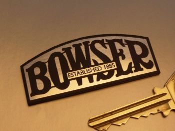 "Bowser Laser Cut Self Adhesive Petrol Pump Badge. 2.5""."