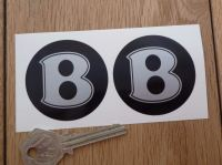 Bentley Black & Silver Wheel Centre Style Stickers. 50mm Pair