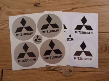 Mitsubishi Wheel Centre Style Stickers. Set 4. 58mm.