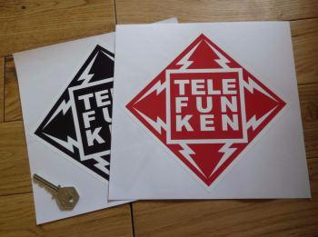"Telefunken Diamond Sponsorship Sticker. 8"" or 12""."