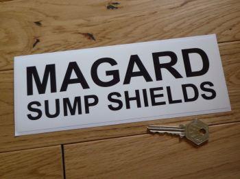 "Magard Sump Shields Black & White Oblong Sticker. 9""."