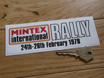 "Mintex International Rally 24th-26th February 1978 Sticker. 6.25""."