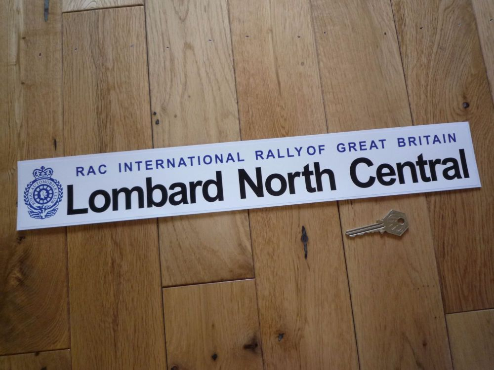 """Lombard North Central RAC International Rally of Great Britain Sticker. 18""""."""