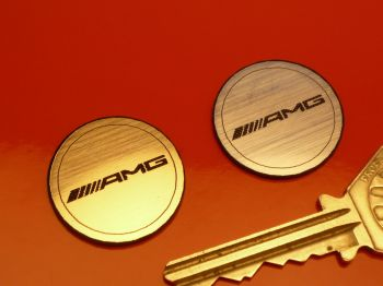 "Mercedes AMG Laser Cut Circular Self Adhesive Car Badge. 1""."