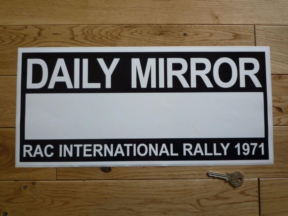 "Daily Mirror RAC International Rally 1971 Plate Sticker. 17""."