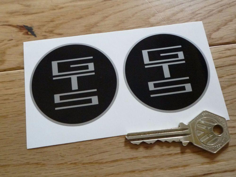 De Tomaso Pantera GTS Circular Stickers. 58mm Pair.