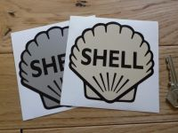 "Shell Classic Logo Stickers. 4"" Pair."