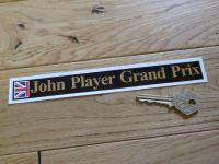 "John Player Grand Prix Sticker. 8""."