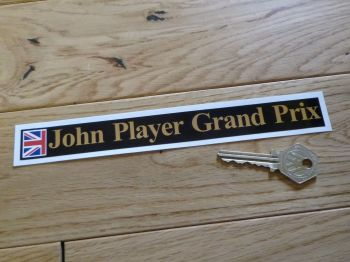 "John Player Grand Prix Sticker. 8""."