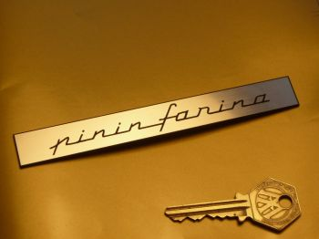 "Pininfarina Oblong Text Self Adhesive Car Badge. 5.5""."