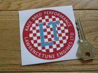 "Lawrence Tune Engines Ltd Race Bred Performance Circular Sticker. 3""."