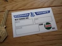 "Standard Triumph Service Using Castrol Oils Sticker. 3""."