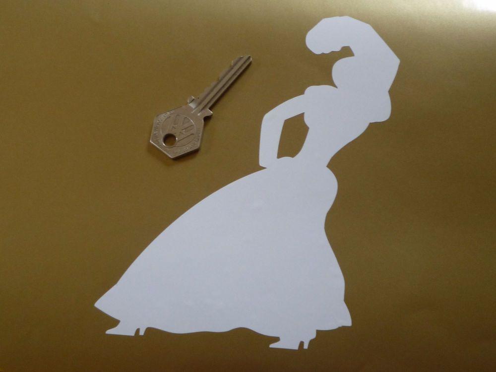 """Gitanes Gypsy Woman Cut Vinyl Sticker. 6.5""""."""