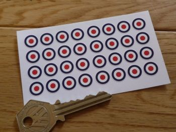 RAF Roundel Stickers. Set of 32. 10mm.