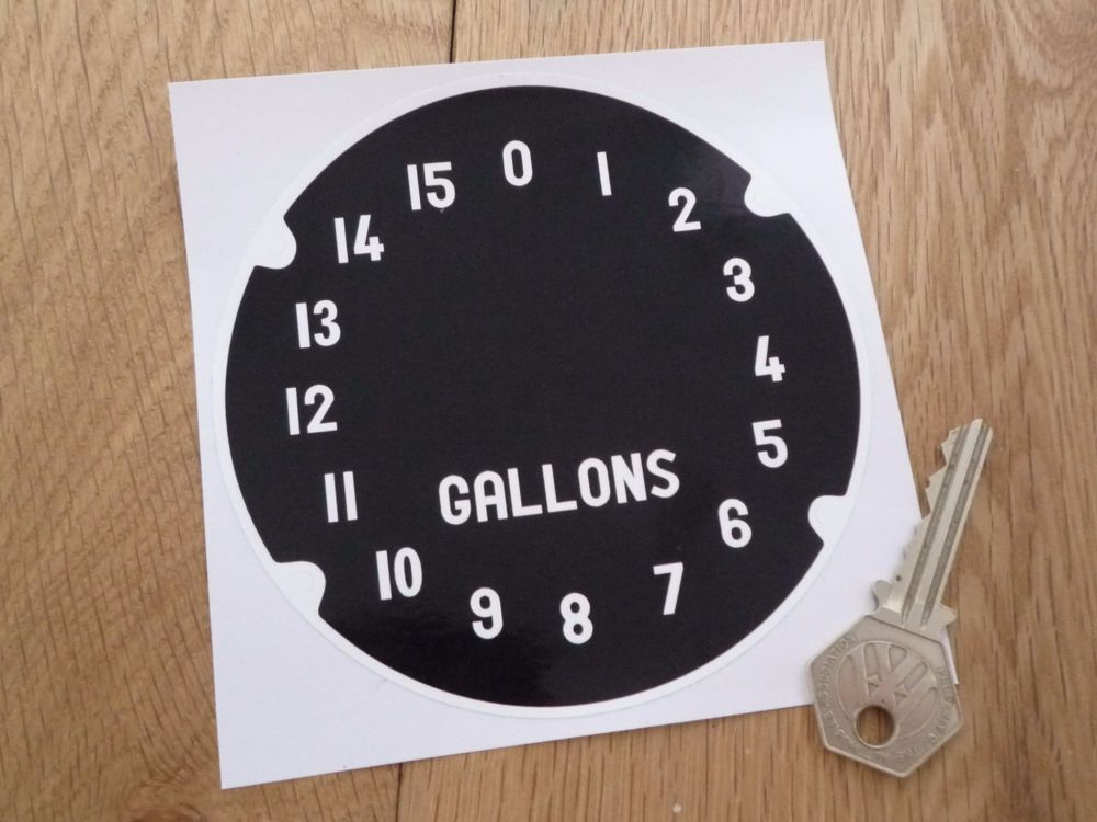 "Bowser Gauge Printed Dial Face Sticker. 4.5""."